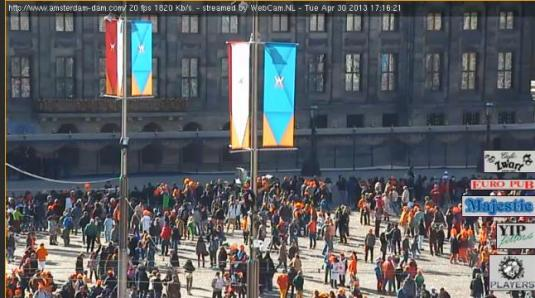 Live Dam Square Streaming Webcam, Amsterdam, Netherlands