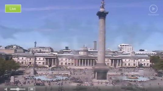 Live Trafalgar Square London Streaming Pan/Tilt/Zoom Cam