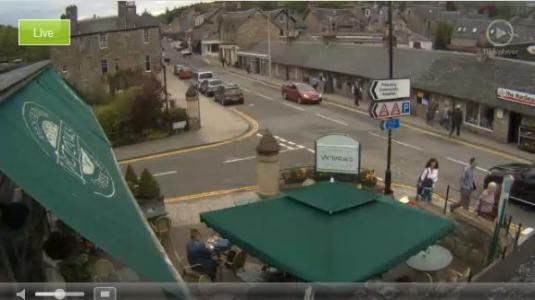 Pitlochry Town Centre Live Streaming Weather Webcam, Pitlochry, Scotland