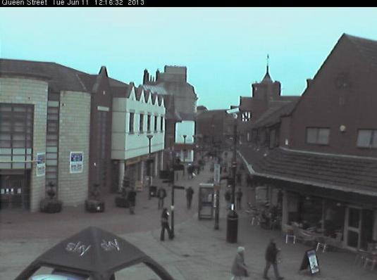 Live Streaming Wrexham Town Centre Webcam, Wales