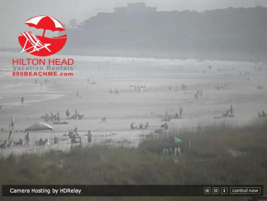 Live Streaming Hilton Head Island Beach Surfing Weather Cam, South Carolina, USA