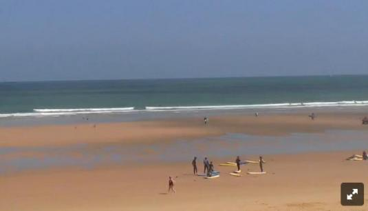Live Streaming Santander Surfing Beach Weather Cam, Somo, Spain