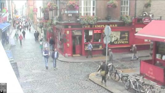 Temple Bar, Dublin Live Streaming Bar Cam, Ireland