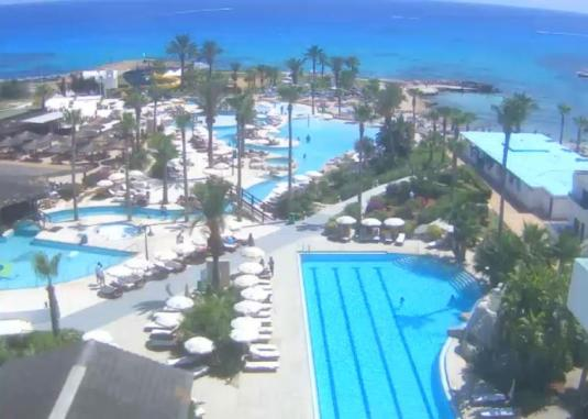 Ayia Nappa Live Streaming Beach Hotel Pool Weather Cam, Cyprus