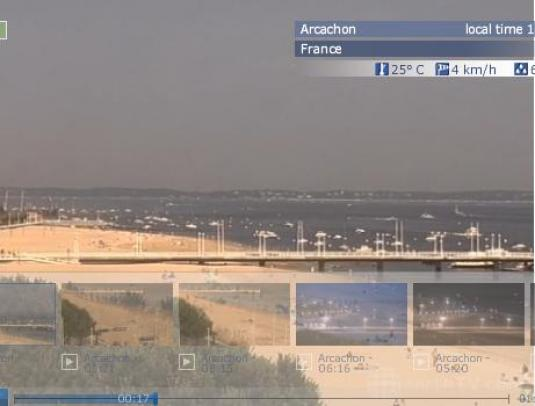 Arcachon Live Streaming Beach Weather Cam, France