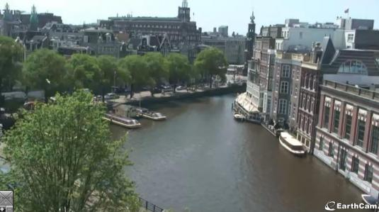 Amstel Canal Live Streaming Amsterdam City Centre Cam, Netherlands