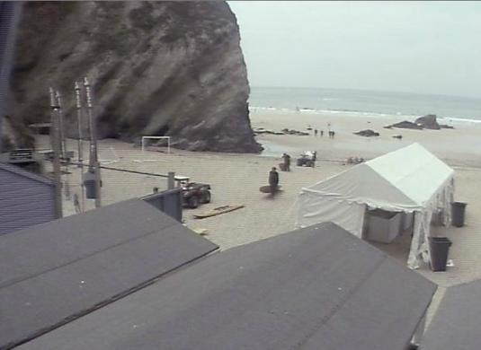 Lusty Glaze Beach Live Streaming Beach Surfing Weather Cam, Cornwall, England