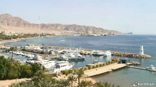 Aqaba Beach Live Streaming Harbour Cam, Jordan