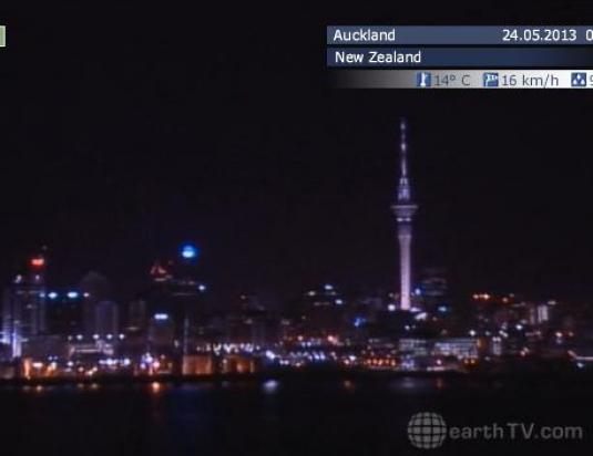 Auckland City Skyline Weather Cam, New Zealand