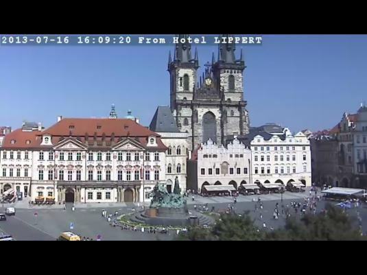Prague City Centre Live Streaming Town Square Cam, Czech Republic