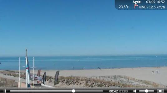Promenade des Anglais Live Streaming Beach Weather Surf Cam, Nice, France