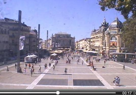 Montpellier City Centre Live Streaming Town Square Weather Cam, France