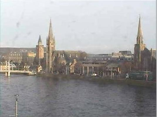 Inverness Live City Centre Weather and Traffic Cam, Scotland