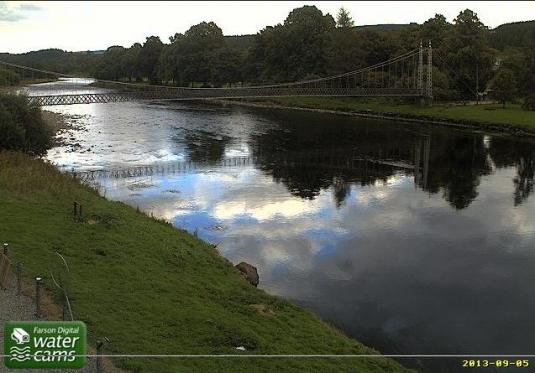 River Spey Live Aberlour Flood Weather Cam Moray Scotland