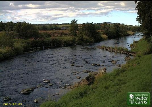 River Deveron Live River Fishing Flood Weather Cam, Aberdeenshire, Scotland