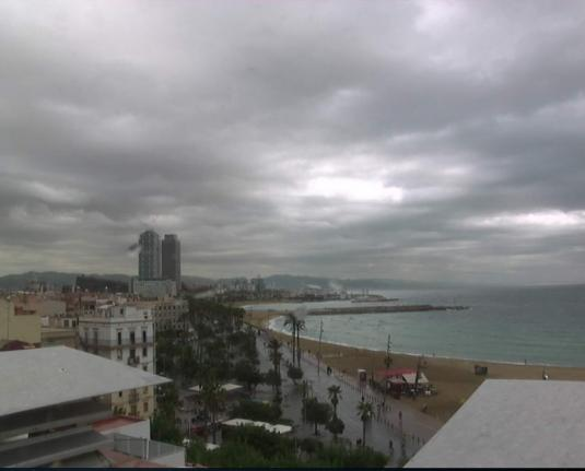 Barcelona Live City Beach Weather Cam, Spain