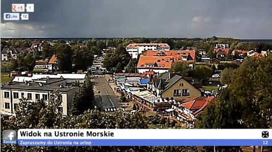 Ustronie Morskie Town Centre Live Streaming Weather Cam, Poland