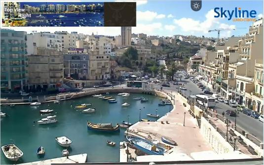 St. Julian\'s Live Streaming Town Centre Harbour Weather Cam, Malta