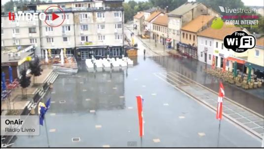 Livno Town Square Live Streaming Town Centre Weather Cam, Bosnia