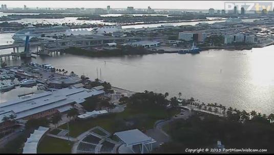 Port of Miami Live Streaming Harbour Weather Cam, Miami