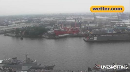 Hamburg Port Live Streaming Harbour Weather Cam, Germany