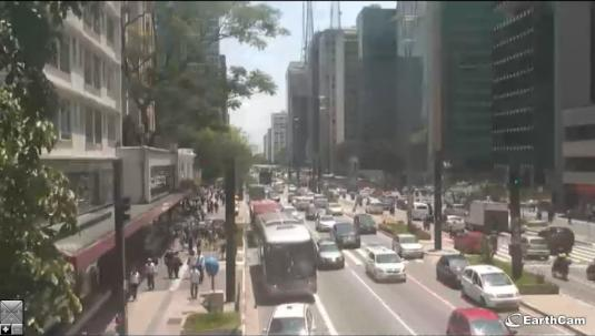 Sao Paulo Live Streaming City Centre Traffic Weather Cam, Brazil