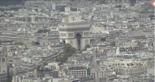 Paris City Centre Arc De Triomphe Live Streaming Skyline Weather Cam, France