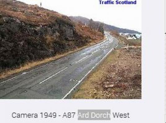 Live A87 Ard Dorch West Traffic Weather Web Cam Broadford Isle of Skye