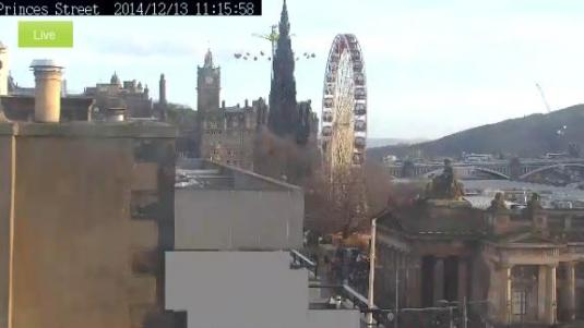 Edinburgh Hogmany Live 2015 New Year Celebrations Webcam Scotland