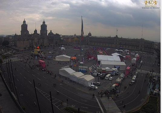 Zocalo City Square Webcam Mexico City Mexico
