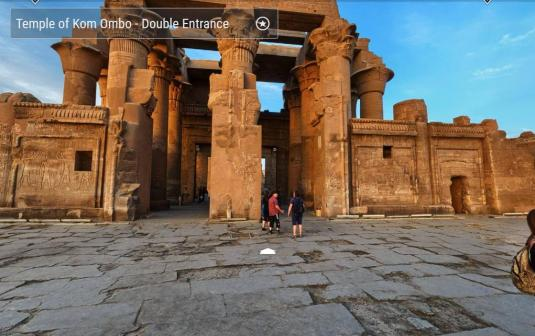 Temple of Kom Ombo Live Gigapixel 360 Degree Panorama Camera View Kom Ombo Egpyt