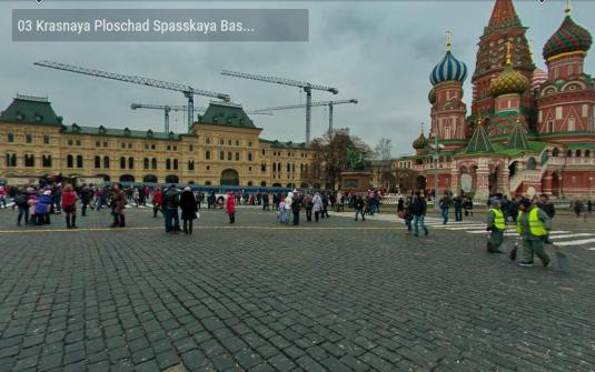 Moscow Red Square Live Gigapixel 360 degree Street Level Panorama HD Camera View Kremlin Moscow