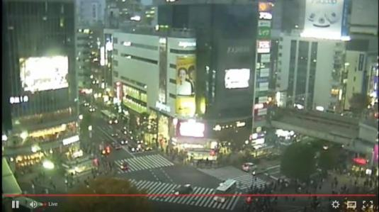 Shibuya Downtown Traffic Web Cam City of Tokyo Japan