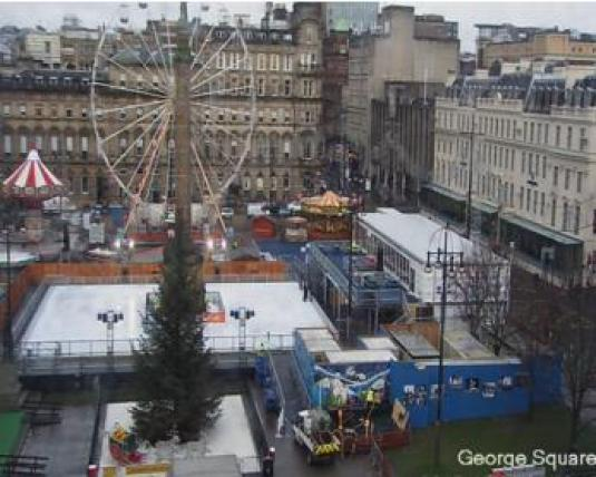 Glasgow Christmas George Square Christmas Party Web Cam George Square