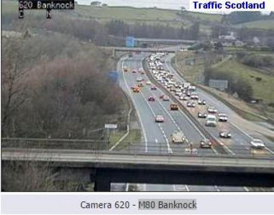 M80 BanknockTraffic Weather Web Cam Falkirk area Central Scotland