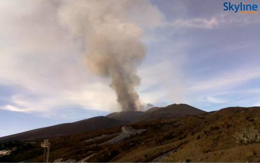 Mount Etna Live Streaming Volcano Web Cam East Coast Sicily Italy