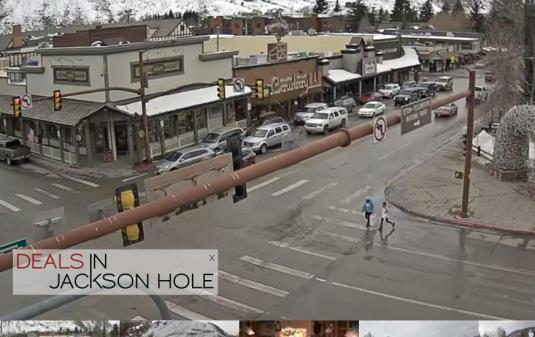 Jackson Hole Town Square Traffic Weather Cam Wyoming