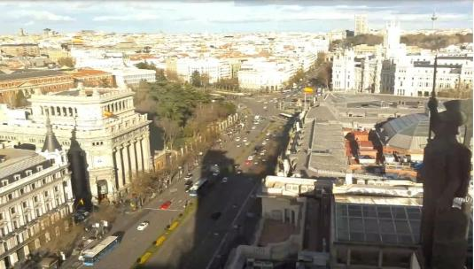 Madrid Calle de Alcalá Traffic Weather Web Cam Madrid Spain