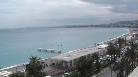 Promenade des Anglais Beach Weather Web Cam City of Nice South France