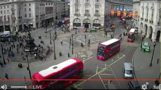 Live Piccadilly Circus London West End Webcam Central London