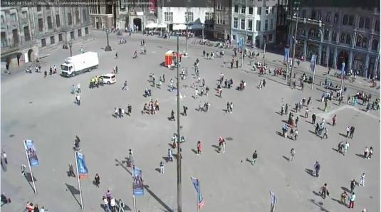 Madame Tussauds Amsterdam Live HD Video Streaming Dam Square Web Cam Amsterdam