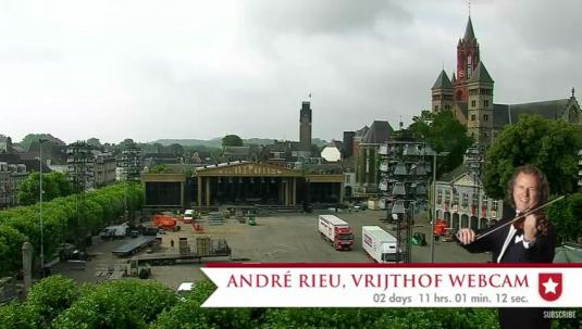 Andre Rieu Maastricht Music Concerts Live Web Cam Vrijthof Square Maastricht Netherlands