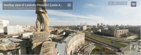 Leninsky Avenue Moscow 360 Panorama Camera Tour Moscow Russia