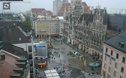 Munich City Square Marienplatz Cam City of Munich Bavaria Germany