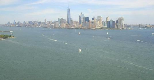 New York City Skyline Hudson River Weather Cam New York