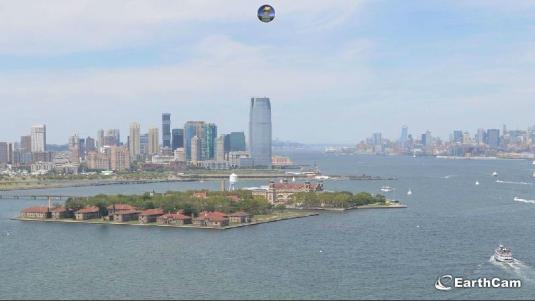 Ellis Island Live Webcam Upper New York Bay New York