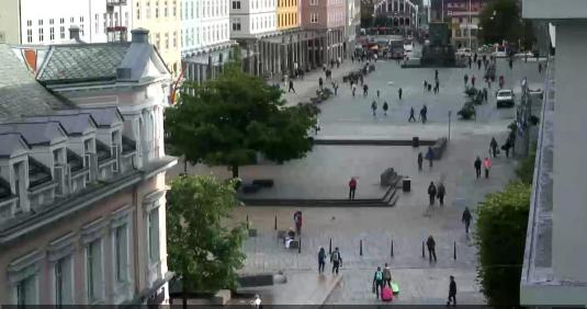 Bergen City Centre Streaming Torgallmenningen Square Webcam Norway