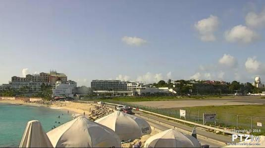 Saint Martin Island Airport Maho Beach Holiday Weather Cam Caribbean