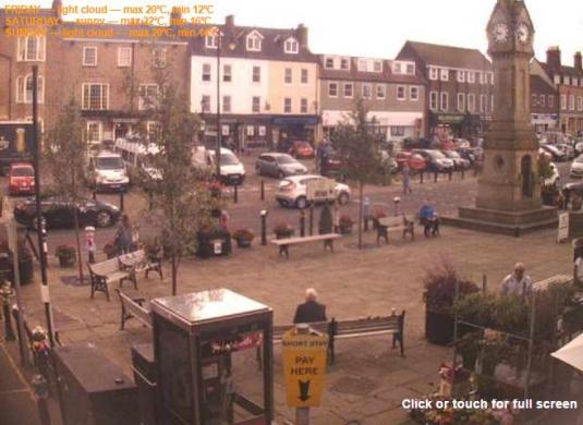 Thirsk Town Centre People Watching Weather Cam Thirsk North Yorkshire