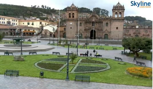 Cusco City Live Plaza Mayor Square Weather Web Cam southeastern Peru
